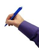 Writing hand. On white background Royalty Free Stock Photos