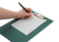 Free Writing Hand 2 Royalty Free Stock Photography - 818797