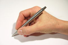 Writing hand royalty free stock photography