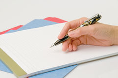 Writing Hand Stock Image