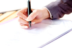 Are writing hand Royalty Free Stock Image