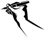 Writing hand stock illustration