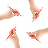 Writing hands Royalty Free Stock Photo