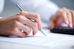 Writing hands Stock Photos