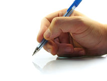 Writing of the handwritten text Royalty Free Stock Images