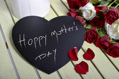 Writing happy mother's day Stock Photos