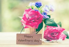happy valentine on card Royalty Free Stock Images
