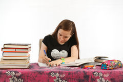 Writing Homework Stock Photography