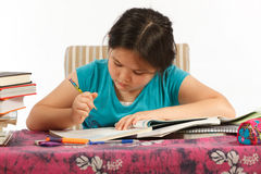 Writing Homework Royalty Free Stock Photography