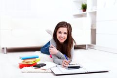 Writing homework Stock Images
