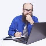 Writing i działanie - biznesmen (serie) Obrazy Stock