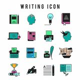 Writing Icon set. For web design and application interface, also useful for infographics. Vector illustration vector illustration
