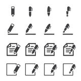 Writing icon Stock Images