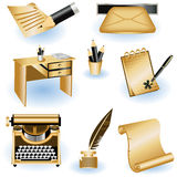 Writing icons Stock Images