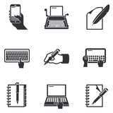 Writing icons Stock Photography