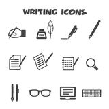 Writing icons Stock Image