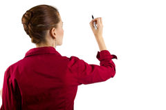 Writing on Imaginary White Board Stock Photography