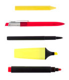 Writing implements Royalty Free Stock Images
