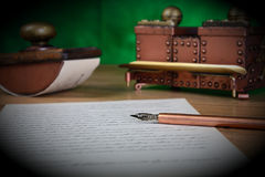 Writing implements stock photography