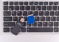 Writing Information on SD Card Royalty Free Stock Images