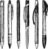 Writing Instrument. Vector image of a differeht writing instruments vector illustration