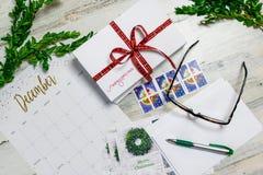 Writing kartki bożonarodzeniowa obraz stock