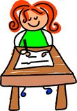 Writing kid Stock Images