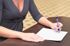 Writing a letter Stock Photos