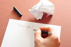 Writing a letter Royalty Free Stock Image