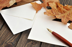 Writing a Letter Stock Image