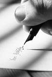 Writing letter fountain pen A Stock Photos