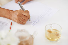 Writing letter Stock Images