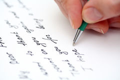 Writing letter to friend. Royalty Free Stock Image