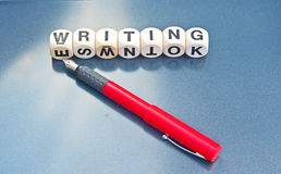 Writing. Logo for publishing house with text Royalty Free Stock Photography