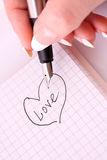 Writing a love letter Stock Photo