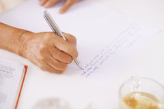 Writing love-letter Royalty Free Stock Images