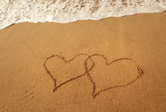 Writing love symbol Stock Photography