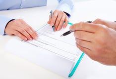 Writing ludzie biznesu. Obraz Stock