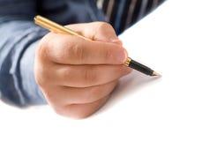 Writing man Stock Image