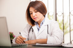 Writing a medical prescription Stock Images
