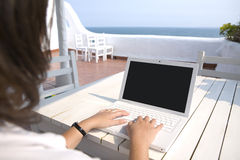 Writing from the mediterranean sea Royalty Free Stock Images