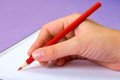 Writing a message Royalty Free Stock Photo