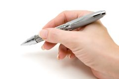 Writing a Message royalty free stock photography