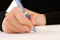 Writing a Message Royalty Free Stock Photos