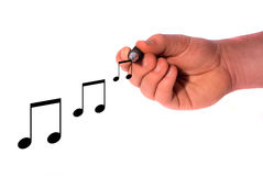 Writing music Royalty Free Stock Images