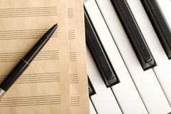 Writing music Royalty Free Stock Photography