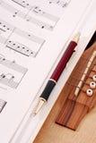 Writing Music Royalty Free Stock Photos