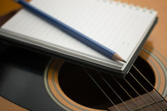 Writing music Stock Photo