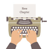 Writing a new story flat illustration Royalty Free Stock Photography