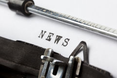 Writing the news stock image